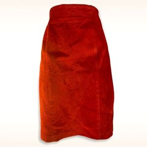 Danier leather suede skirt size 10